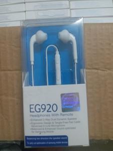 OEM Para Samsung Galaxy S6 / EDGE headphone fone de ouvido fone de ouvido 3,5 milímetros com controle de volume remoto Mic com EG920 Package