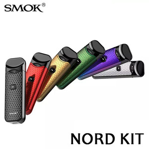 SMOK Nord Kit Kit System Pod 1100mah com Nord Cartucho 3ml Mesh Regular Bobinas para ambos Sub-ohm MTL Vaping 100% Authentic SmokTech