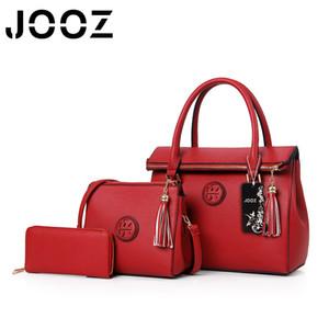 JOOZ Brand New Luxury PU Leder Quaste Handtasche 3 Stücke Composite Taschen Set Lady Schulter Crossbody Frauen Tasche Weibliche Geldbörse Kupplung