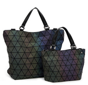 Matte Women Bao Bao bag Luminous baobao Sac Diamond bolso Geometry Quilted Shoulder Laser Plain Folding Tote Top Handle Bags obag Handbag