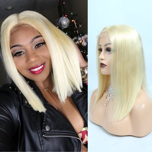 613 Bob Lace Front Wig 180% Density 10-16 Inch Human Hair Short Blonde Bob Human Hair For Black White Womem