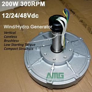 Démarrage à faible vitesse de 200W 300RPM 12V / 24V / 48Vdc bas pour alternateur de générateur à Coreless à aimant permanent de DIY