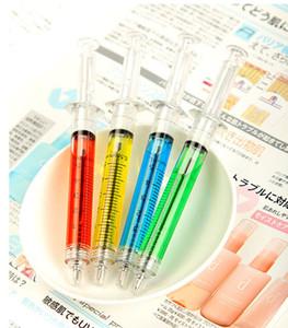 Продвижение 2018!! Корейский творческий канцелярские принадлежности, новый шприц шариковая ручка / студент подарки шариковая ручка милые капли странные новые продукты