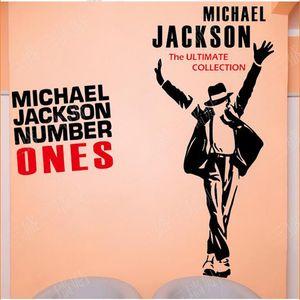 Frete grátis 2016 Hot Vintage Michael Jackon Poster Wall Decor A Última Coleção Adesivos de Parede Com Michael Jackon Retrato Mura Parede