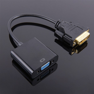 DVI Erkek VGA Kadın Video Dönüştürücü Adaptör Kablosu 1080 P DVI-D VGA Kablosu 24 + 1 25 Pin Dönüştürücü TV PS3 için PS4 PC Ekran