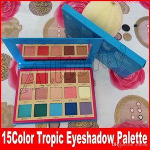 Nueva paleta de maquillaje sombra de ojos Tropic paleta de sombra de ojos paleta resaltador para niñas 15 colores envío gratis
