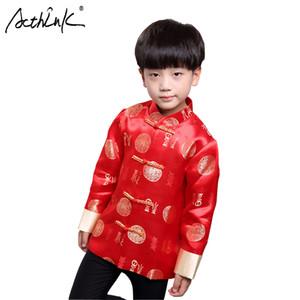 ActhInK New Boys Hanfu Abrigo Estilo Chino Fiesta de Chicos Traje Tang Niños Año Nuevo Chino Ropa Tradicional China Abrigo de Primavera