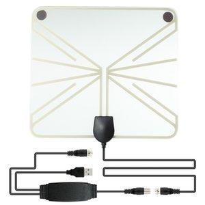50 Miles usine Gamme HDTV TV Amplified Flat TV numérique Antenne intérieure Antenne TV UHF / VHF Intérieur Amplificateur de signal