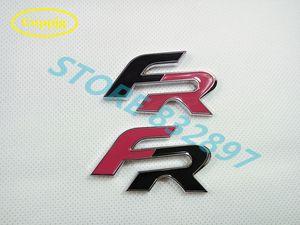 Großhandel 10 PC / Los 3D-Metall Autoaufkleber FR Brief Emblem Abzeichen Auto Styling Auto Dekoration logo Zubehör