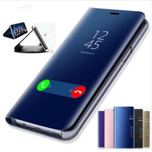 Clear View Smart Case Téléphone Miroir Pour Samsung Galaxy S9 S8 S7 S6 Edge Plus Pour Note 8 9 5 Pour A3 A5 A7 A8 2017 2018 Cas