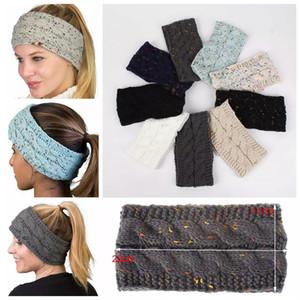 Örme Tığ Kafa Kadın Kış Sporları Headwrap Hairband Turban Kafa Band Kulak Isıtıcı Bere Şapkası Bantlar LJJA3276-4