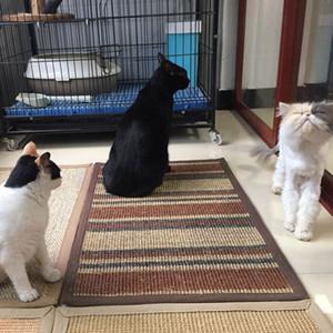 Natürliche Sisal Katze Hund Matte Paw Pad Teppich Wohnzimmer Schlafzimmer anpassbare Decke Katze Scratch Board Scratcher 15 6rb gg