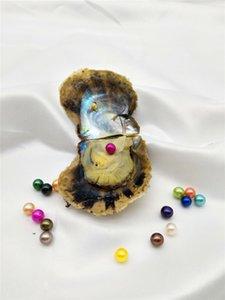 Akoya Pearl Oyster Рулонные 6-7мм цвета морской воды, природные Saltwater Oyster Pearl цветные перламутровые шарики в устриц с вакуумной упаковке