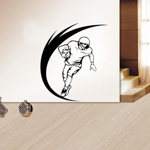 Rugby Wall Stickers for Boy Rooms Decoration Bedroom Background Sticker Removable Home Decor Mural Free Shipping