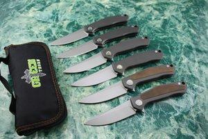 Green thorn poker avec des morceaux de cuivre, couteau pliant m390, alliage de titane TC4, couteau de chasse au camping en plein air, outil EDC