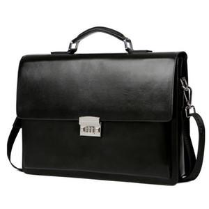 Homens de Negócios Briefcase Bag Simples PU Leather Laptop Bag Man Masculino Ombro Casual Notebook Bolsa bolsa maleta