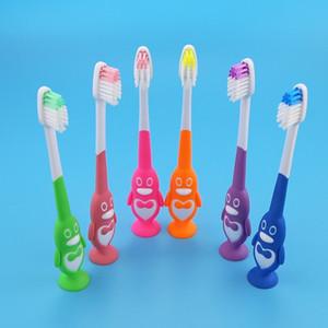 سوبر لطيف الكرتون البطريق فرشاة الأسنان اللسان لينة فرشاة الأسنان فرشاة الأسنان اللسان للأطفال الطفل سلامة الاطفال