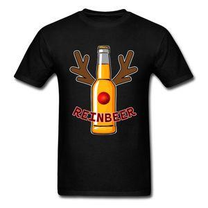 Reinbeer 100% Baumwolle T-Shirts für Männer Kurzarm Normal Tops Shirt Funky Vater Tag Rundhals T-Shirts Geek