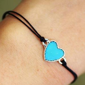 Nuova vendita calda popolare delle donne a mano di umore della lega del braccialetto fascino Fancy 12 colori Modifica braccialetto della corda