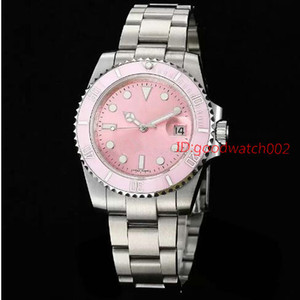 Marca 116610LN Dial rosado Bisel de cerámica Acero inoxidable Zafiro Espejo de vidrio Mecánico automático Wonen Wonens Relojes Relojes