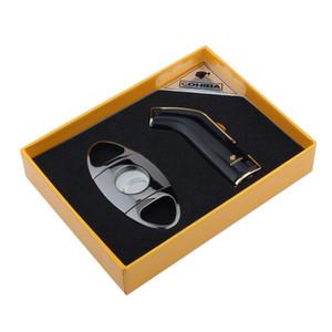 Новое прибытие роскошный высококачественный портативный черный цвет сигар с факелом и сигарой