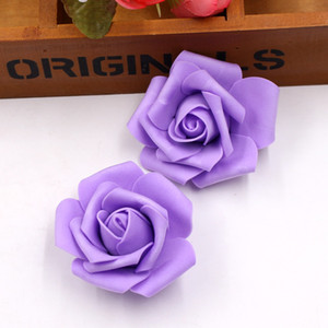 Fleurs décoratives 100pcs / Lot 6cm Mousse Artificielle Rose Fleurs Tête Pour la Décoration De Mariage Guirlande Décorative Floristry Faux Fleurs