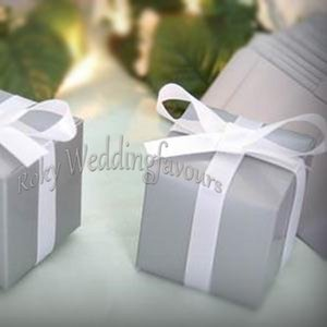 """Free Shipping 50PCS 2""""Grey Square Favor boxes Wedding Party Favor Holders Birthday Sweet Table Decor Event Anniversary Package Ideas"""