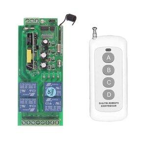 500 متر ac 85 فولت -265 فولت 110 فولت 220 فولت 230 فولت 4 قناة 4ch الترددات اللاسلكية التحكم عن نظام استقبال + الارسال ، 315/433