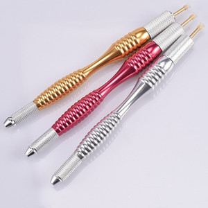 Перманентный макияж бровей Microblading Pen Machine 3D Tattoo Руководство Doule Head Pen бесплатная доставка