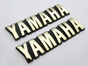 Moto 3D ABS 125mm emblème de réservoir d'essence de carburant d'essence badge autocollant pour Yamaha Set