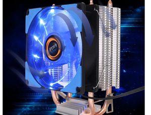 Ventilateur de processeur multi-plate-forme Multi plate-forme Double tuyau de chaleur Double tuyau de bureau Silent Radiateur Type de ventilateur Matériau de l'évier de chaleur Aluminium Cuivre