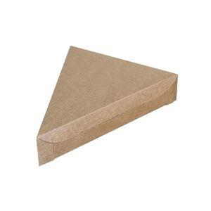 Triangolo Kraft Paper Pizza Box Torta al formaggio Torta da asporto Scatole da imballaggio Party Snack Candy Packing ZA6101