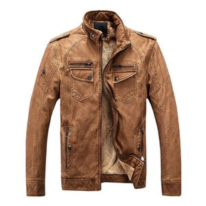 New Winter Motorcycle Leather Jackets Men Casual Leisure Thick Warm Faux Leather Jackets Coats Parka Jaqueta De Couro Masculina