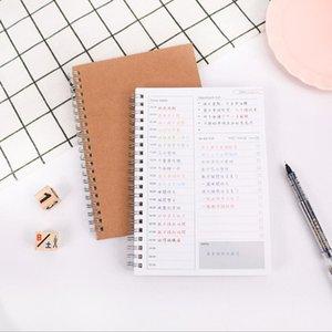Agenda Cadernos Planejador Semanal Caderno Agendas 2018 2019 Libretas Nota Livros Mensal Kraft Papel Agenda Filofax A5 Presente Espiral