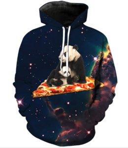 La última moda Mujeres / Hombres Panda On Pizza Tabla de surf Harajuku Style Funny 3D Imprimir Casual Hoodies Unisex Más Tamaño KK255