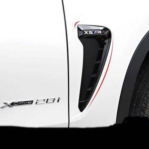 2 Stücke ABS Auto Front Kotflügel Side Air Vent Cover Trim Auto-styling Für BMW X Serie X5 F15 X5M F85 Shark Gills Side Vent Aufkleber Zubehör