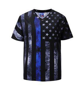 Verão T-shirt Dos Homens T Camisas Preto 2018 Famosa Marca de Moda de Nova Moda camiseta Com Decote Em V de Algodão Estrela Impressão Mens Tops Tees