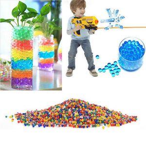 40000 adet / takım Renkli Sihirli Inci Orbeez Şekil Kristal Su Boncuk Büyümek Biyo Su Jel Topları Büyümek Jöle Topları Ev Dekorları