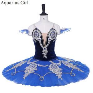 AQUARIUS Trajes De Dança Azul Pássaro Papel Adulto Cor Azul Ballet Tutu Material De Veludo Clássico Ballet Pancake Tutu Saia CT9200