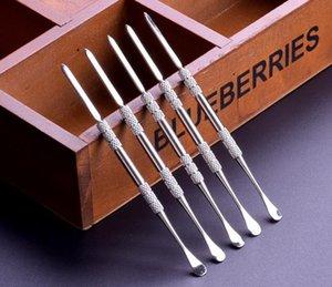 Balmumu aracı balmumu atomizer paslanmaz çelik titanyum tırnak earpick kulak kaşık kuru ot buharlaştırıcı için e sigara temiz aracı kalem