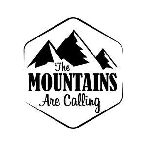 Les montagnes appellent aventure brave sticker style homme ca413