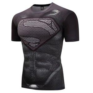 2018 New Fitness Compression Shirt Men Anime   Captain Americ 3D T Shirt Bodybuilding Crossfit tshirt
