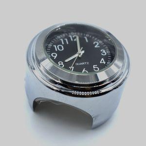 Para el manillar de la motocicleta Monte el reloj de cuarzo para la motocicleta de la bici de la vespa Universal Impermeable Motos Instrumentos de marcación