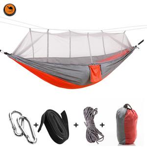 Haute Double Strength Personne meubles camping hamac Portable Outdoor Kits Voyage Stit Couleurs mélangées