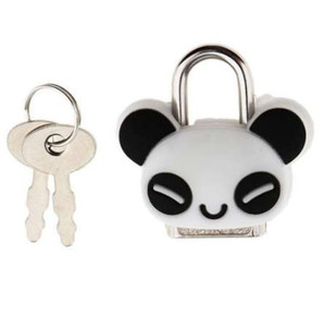 Sicherheitsschloss Mini Padlock Tier Niedlichen Puppe Cartoon Schloss mit Schlüssel Panda geformt für Schmuckschatulle / Schublade / Schrank / Aufbewahrungsbox