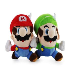 Il nuovo arrivo 100% cotone Luigi Bros Luigi Esecuzione di bambola della peluche degli animali farciti giocattolo per bambini migliori regali 16CM