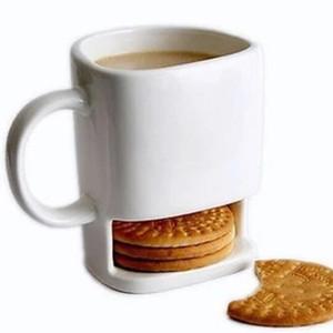 24 Stück Keramik Milch Tassen mit Keks Inhaber Dunk Kekse Kaffeetassen Lagerung für Dessert Weihnachtsgeschenke Keramik Cookie Becher