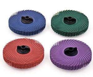 10 adet 3 M Radyal Kıl Fırça Tekerlek Diskleri Aşındırıcı Araçları Için Parlatma Taşlama Tekerlek Fırçalar Tezgah Öğütücü Ile 1 adet Plastik Hub