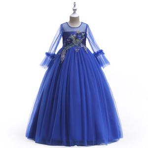 abito a maniche lunghe per i bambini primavera e l'inverno e abiti pagenat di autunno Flower Girl Dress lungo principessa ma anche costumi canbe Piano
