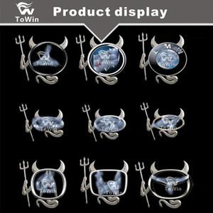 3D معدن كروم Devil Style Demon Sticker Auto Car Logo شعار ورقة شارة صائق ، سيارة زخرفة / زينة / أسود / أحمر / فضي / ذهبي.